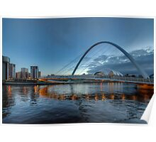 Millennium Bridge Newcastle Poster