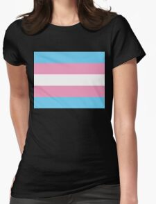 Transgender Flag Womens Fitted T-Shirt