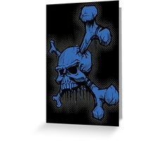Blue Skull Greeting Card