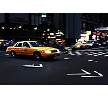 New York City Cab Photographic Print