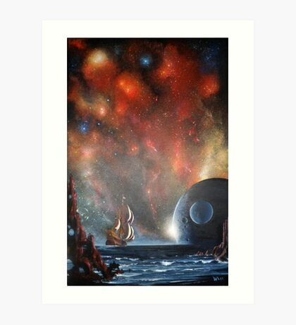 Last Voyage of Columbus (Edge of Eternity) Art Print