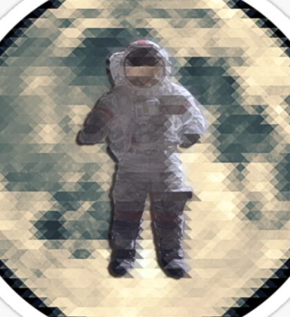 Hipster Space guy. Sticker