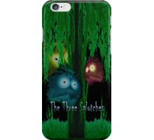 Three Splotchies under a tree iPhone Case/Skin
