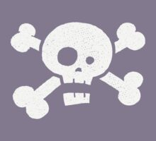 Children's Vintage Skull & Crossbones Tshirt - Hand Illustrated Kids Clothes