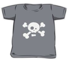 Children's Vintage Skull & Crossbones Tshirt - Hand Illustrated Kids Tee