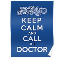 Keep Calm And Call The Doctor (Gallifreyan Version) Poster