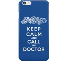 Keep Calm And Call The Doctor (Gallifreyan Version) iPhone Case/Skin