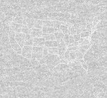 Kids Vintage U.S. Map Tshirt - Hand Illustrated Kids Tee