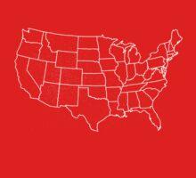 Kids Vintage U.S. Map Tshirt - Hand Illustrated Kids Clothes