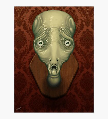 Shocked Alien Photographic Print