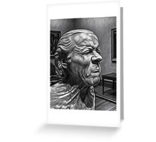 The Art Critic Greeting Card
