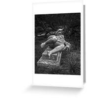 Female Sculpture Greeting Card
