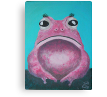 A rare Pink Lady Toad Canvas Print