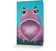 A rare Pink Lady Toad Greeting Card