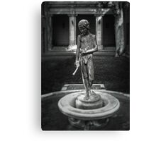 Courtyard Sculpture Canvas Print