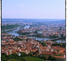 Red Rooftops of Prague by blue-roses
