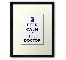 Keep Calm I Am The Doctor (Color Version) Framed Print