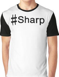 #Sharp BLACK Graphic T-Shirt