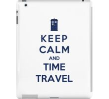 Keep Calm And Time Travel (Color Version) iPad Case/Skin