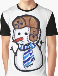 Snowman Graphic T-Shirt