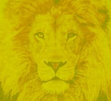Yellow Lion by geekchicprints