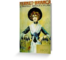 Fernet 1905 Greeting Card