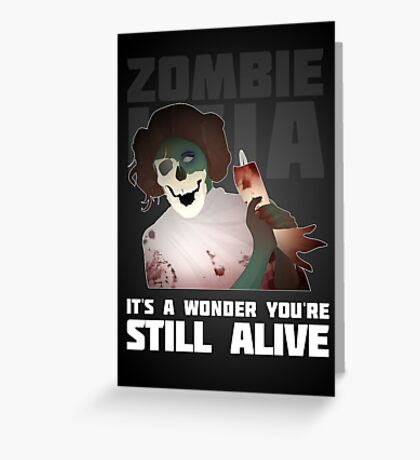 Zombie Leia Greeting Card