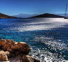 Morning Light in Nimborio Bay by Tom Gomez