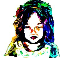 Little Rainbow Girl Photographic Print