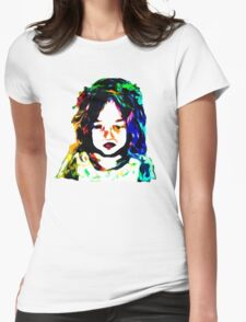 Little Rainbow Girl Womens Fitted T-Shirt