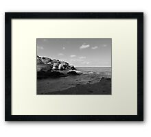 Old Woman Creek - Black And White 3 Framed Print
