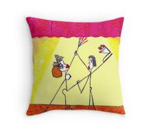 Stars in her eyes... Throw Pillow