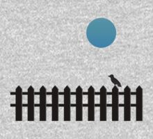 Bird On Fence [Blue Moon] by V-Art