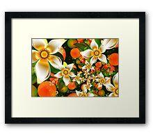 Fractal Orange Blossoms Framed Print