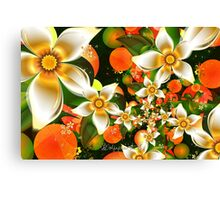 Fractal Orange Blossoms Canvas Print