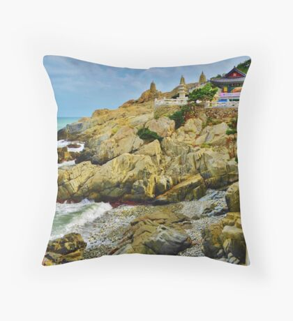 Dragon Temple - Busan, South Korea Throw Pillow
