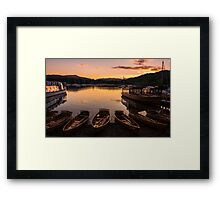 Waterhead Sundown Framed Print