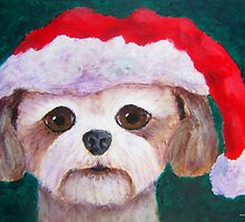 Shih Tzu Christmas Dog by Annie Zeno
