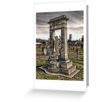 Angel Grave Greeting Card