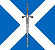 Claymore on Saltire by Richard Fay