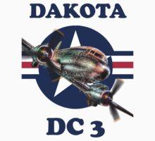 Douglas DC3 Dakota Tee Shirt by Colin  Williams Photography
