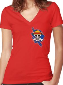 Pirate in you Women's Fitted V-Neck T-Shirt