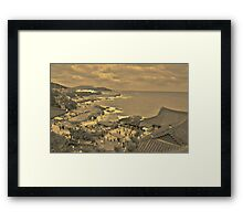 Dragon Temple - Sepia Framed Print