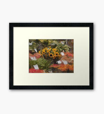 Sunflowers for Sale Framed Print
