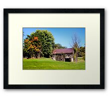 BARN WITH VINES Framed Print