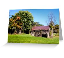 BARN WITH VINES Greeting Card