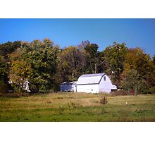 OLD WHITE BARN IN THE KNOBS OF INDIANA Photographic Print