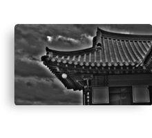Korean Temple Roof Canvas Print