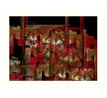 abstraction from destruction I Art Print
