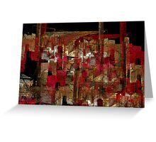 abstraction from destruction I Greeting Card